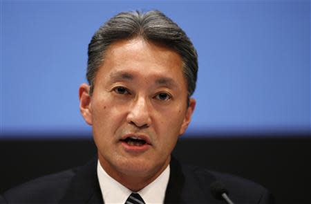 Sony Corp President and Chief Executive Officer Kazuo Hirai speaks during a news conference at the company's headquarters in Tokyo February 6, 2014. REUTERS/Toru Hanai