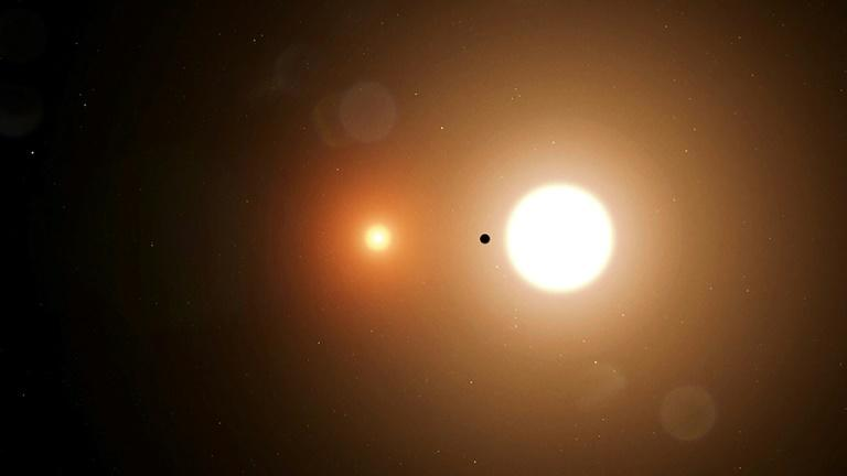 Another discovery announced at the meeting was TESS's first finding of an expolanet with two stars, also known as a circumbinary planet