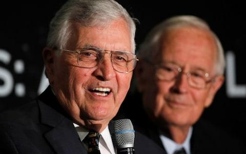 Former astronauts Harrison 'Jack' Schmitt and Charlie Duke - Credit: Reuters