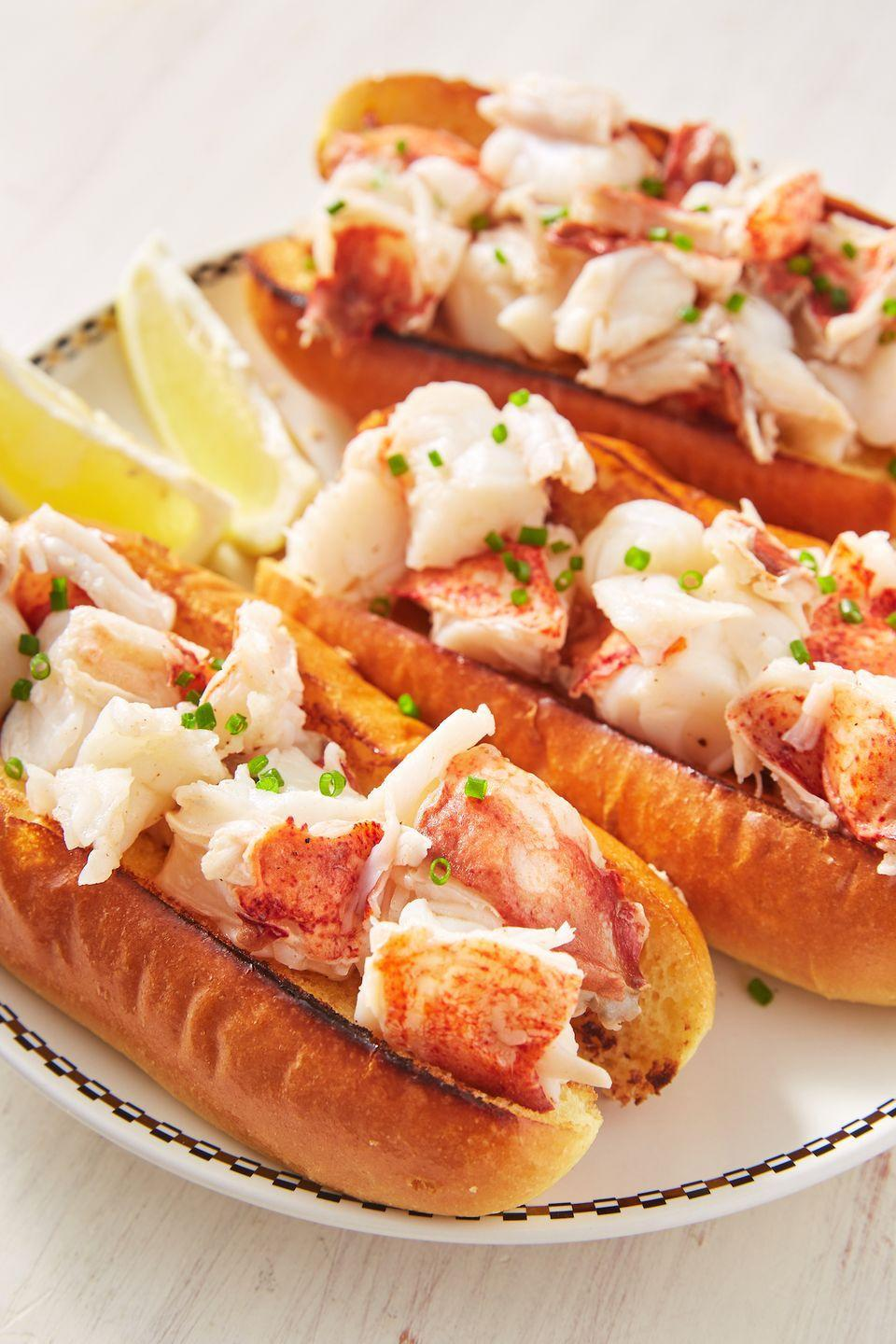 """<p>The toasted buns are EVERYTHING.</p><p>Get the recipe from <a href=""""https://www.delish.com/cooking/recipe-ideas/a28510797/best-lobster-roll-recipe/"""" rel=""""nofollow noopener"""" target=""""_blank"""" data-ylk=""""slk:Delish"""" class=""""link rapid-noclick-resp"""">Delish</a>.</p>"""