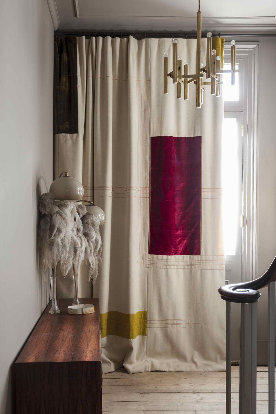 """<p>Crafted from vintage fabrics sourced by founder Lucy Bathurst, Nest's bespoke curtains, blinds and home textiles could be likened to modern works of art with their geometric compositions. <a href=""""http://nestdesign.co.uk/"""" rel=""""nofollow noopener"""" target=""""_blank"""" data-ylk=""""slk:nestdesign.co.uk"""" class=""""link rapid-noclick-resp"""">nestdesign.co.uk</a></p>"""