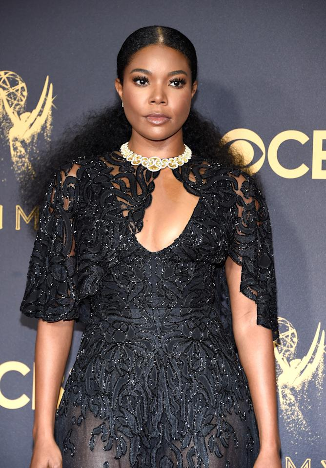 <p>Gabrielle Union's ponytail deserves an Emmy Award. (Photo: Kevin Mazur/WireImage) </p>