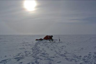A view of the camp on Day 13 of the Test Your Limits' team's journey to the South Pole.