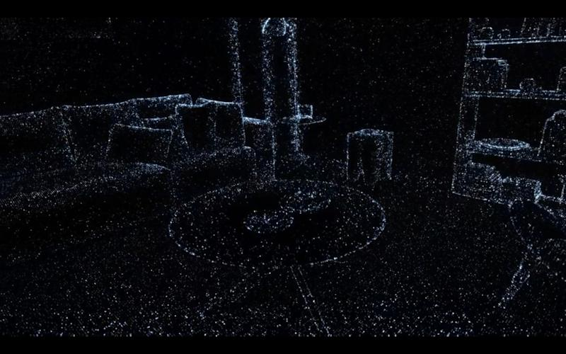 A map of a room built with Apple's LIDAR system - Apple