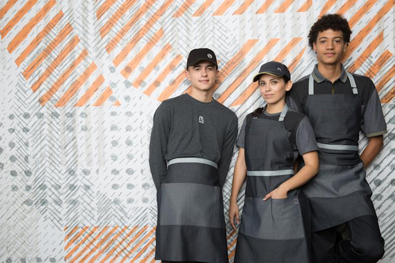 Hold Up — The New McDonald's Uniforms Are Actually Really Trendy