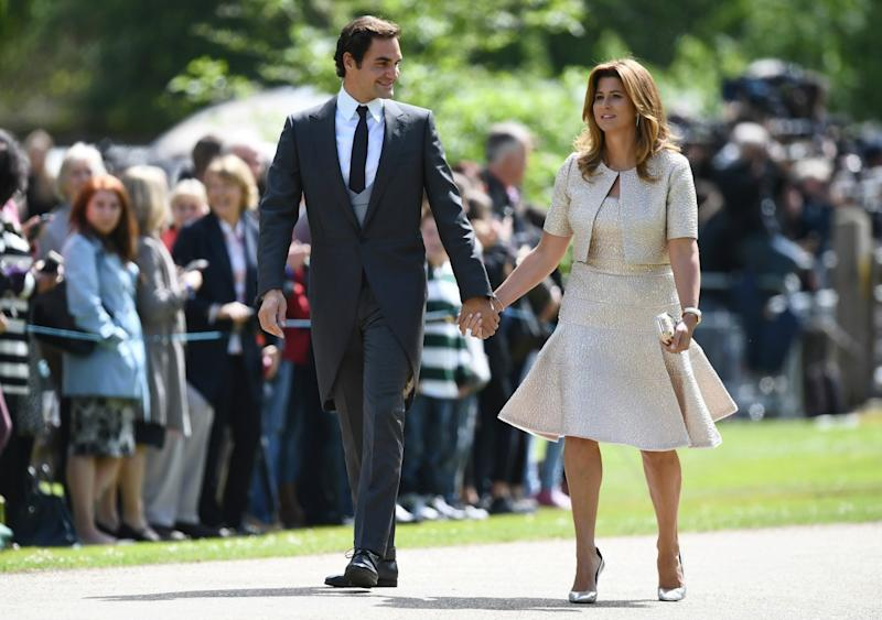 roger federer attends pippa middleton�s wedding with wife