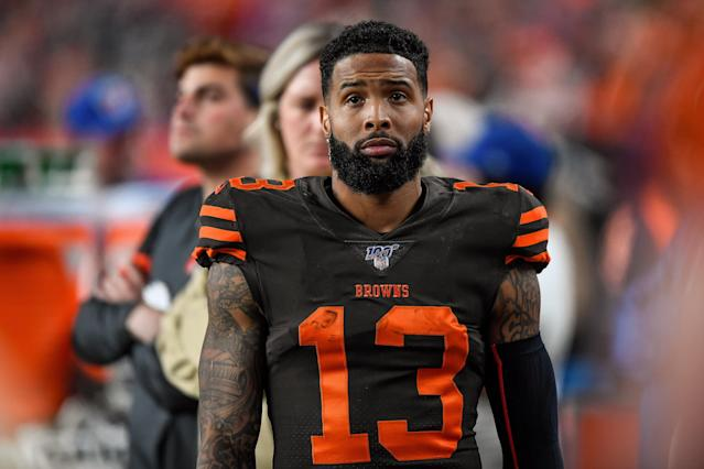 Odell Beckham Jr. is convinced that the NFL is unfairly targeting him for PED testing. (Dustin Bradford/Getty Images)
