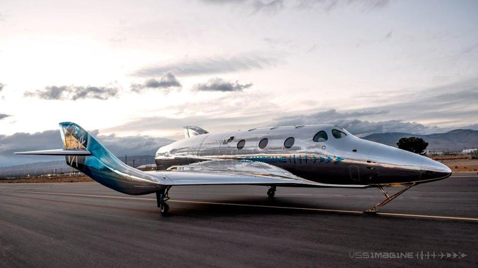 Handout photo issued by Virgin Galactic of their third craft VSS Imagine (Virgin Galactic/PA) (PA Media)