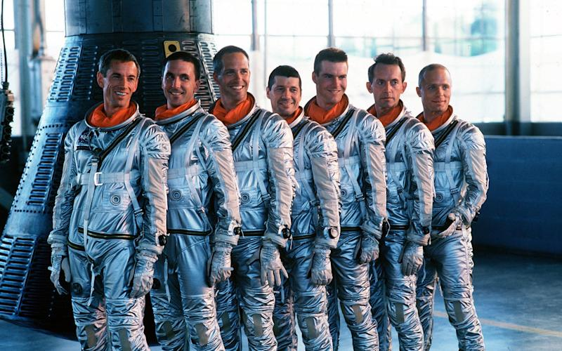 The cast of Philip Kaufman's The Right Stuff - alamy