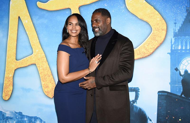 Sabrina and Idris at the premiere of his film Cats (Photo: Evan Agostini/Invision/AP)