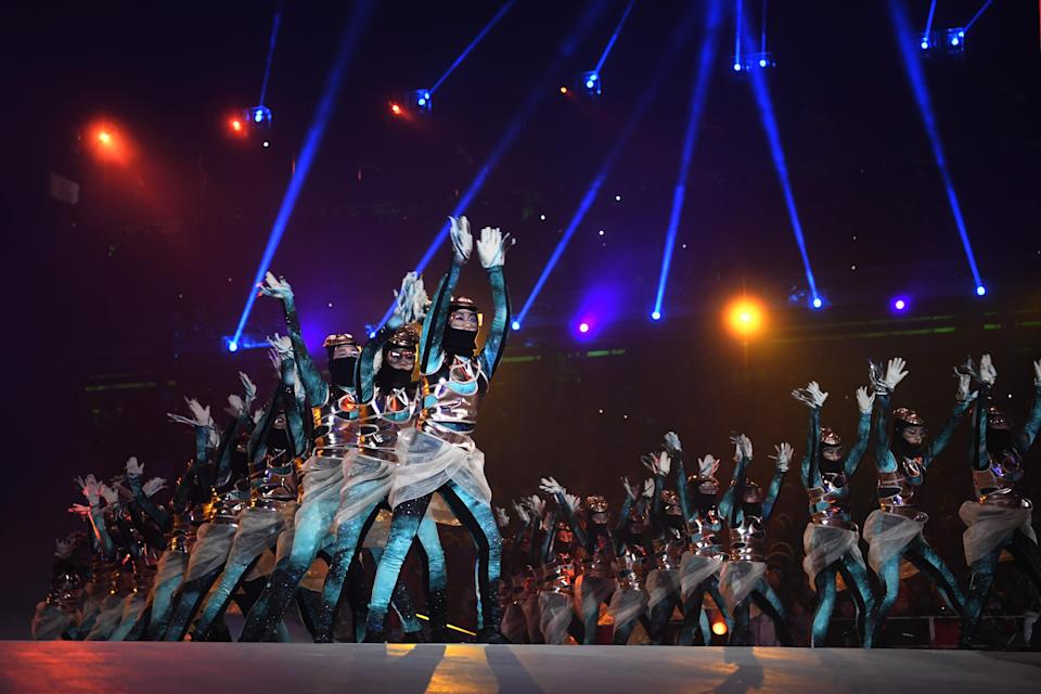 <p>Perfomers during the Opening Ceremony of the PyeongChang 2018 Winter Olympic Games at PyeongChang Olympic Stadium on February 9, 2018 in Pyeongchang-gun, South Korea. (Photo by Quinn Rooney/Getty Images) </p>
