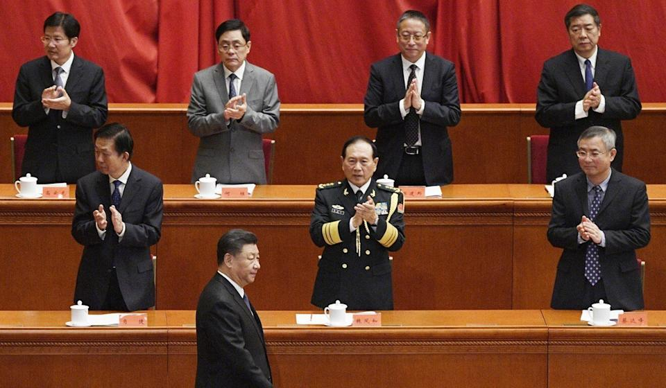 "The document said the country's achievements were only possible under Xi Jinping's ""helmsmanship"". Photo: Kyodo"