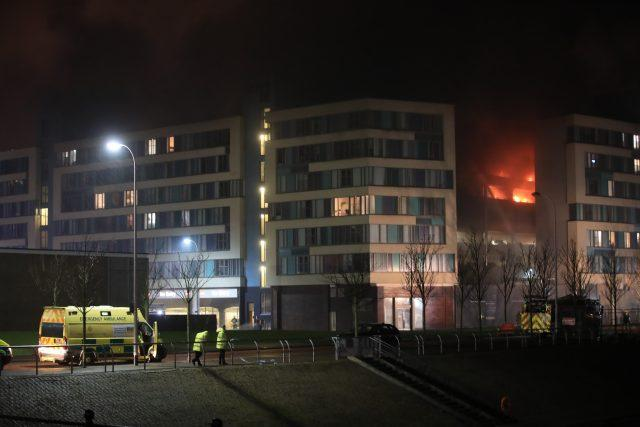 The fire could be seen around the waterfront (Peter Byrne/PA)