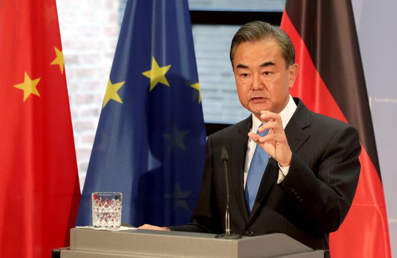 FILE PHOTO: German Foreign Minister Heiko Maas meets with China's Foreign Minister Wang Yi in Berlin