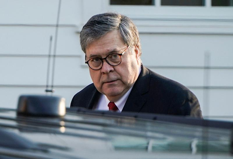 Attorney General William Barr leaves his house after Special Counsel Robert Mueller found no evidence of collusion between U.S. President Donald Trump's campaign and Russia in the 2016 election in McClean, Virginia, U.S., March 25, 2019. REUTERS/Joshua Roberts