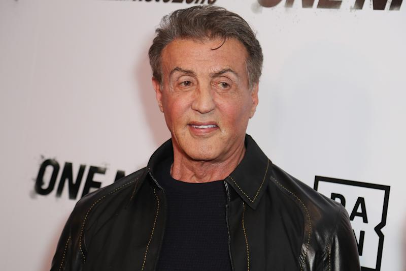 Sylvester Stallone is no longer sporting his signature dark hair in a new Instagram post and fans love it. (Photo: Leon Bennett/Getty Images)