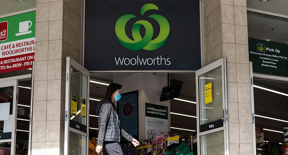 Customers have expressed their dismay at Woolworths, after witnessing team members not wearing masks in store. Source: AAP