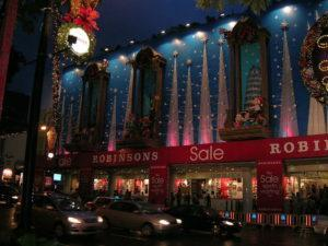 Christmas decorations at The Centrepoint in 2004 when Robinsons was the mall's anchor tenant. Photo: Formulax