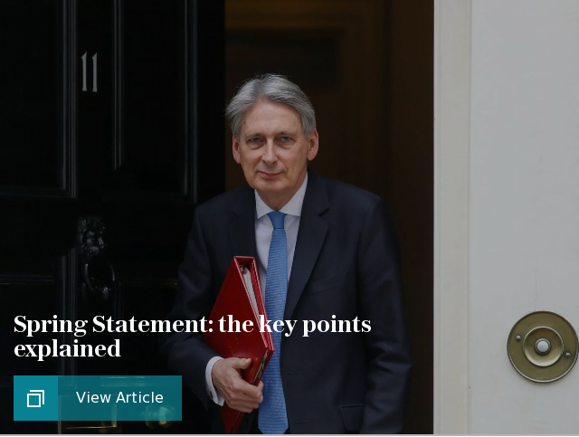 Spring statement: the key points explained