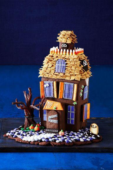 """<p>Chocolate cookie walls and candy decorations make this haunted house frightfully delicious. </p><p><em><a href=""""http://www.womansday.com/food-recipes/food-drinks/g1658/halloween-haunted-cookie-house/"""" rel=""""nofollow noopener"""" target=""""_blank"""" data-ylk=""""slk:Get the recipe from Woman's Day »"""" class=""""link rapid-noclick-resp"""">Get the recipe from Woman's Day »</a></em></p>"""