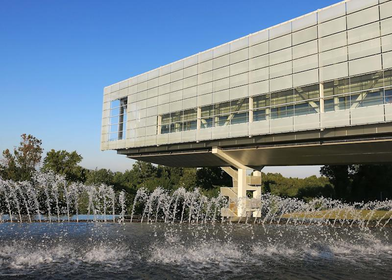 The Clinton Library, where the Listen to America tour will hold an event. (Elizabeth W. Kearley via Getty Images)