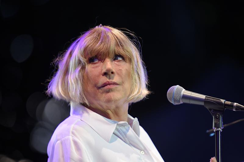 English singer Marianne Faithfull performs on stage during the 23rd edition of the Cognac Blues Passion festival on July 8, 2016 in Cognac. / AFP / GUILLAUME SOUVANT (Photo credit should read GUILLAUME SOUVANT/AFP via Getty Images)