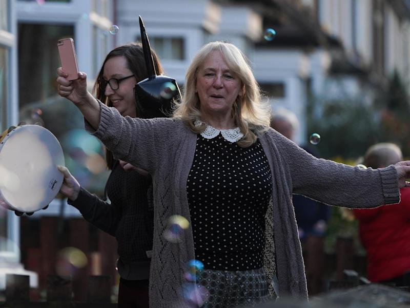 Residents in Saltburn By The Sea came out of their homes to show their appreciation: Getty