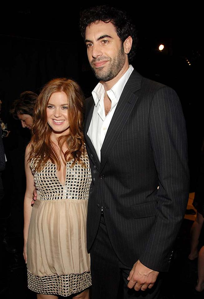 "Isla Fisher and Sacha Baron Cohen are hilarious on-screen (see: her in ""Wedding Crashers"" and him in ""Borat"" for proof), but they're extremely serious when it comes to their relationship. Despite their efforts to keep their personal lives private, we do know that the two are parents to a pair of babies and, after a six-year engagement, were married on March 15 in Paris. Kevin Mazur/<a href=""http://www.wireimage.com"" target=""new"">WireImage.com</a> - June 3, 2007"