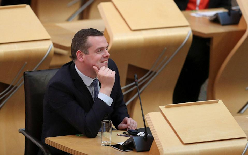 Leader of the Scottish Conservative Party Douglas Ross - AFP