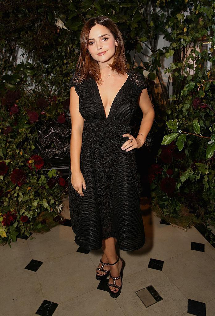 <p>The British actress (and Prince Harry's rumoured flame…!) looked gorgeous in a black Burberry dress with a plunging neckline.<i> (Photo by David M. Benett/Getty Images for Burberry)</i><br></p>