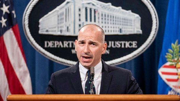 PHOTO: Michael Sherwin, Acting U.S. Attorney for the District of Columbia, speaks at a press conference to give an update on the investigation into the Capitol Hill riots, Jan. 12, 2021, in Washington, DC. (Sarah Silbiger/Getty Images)