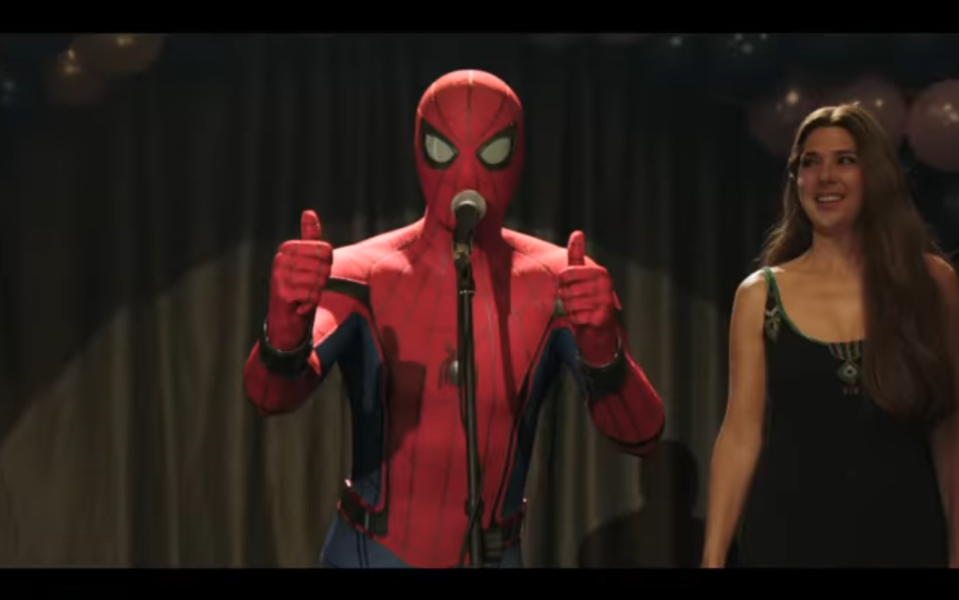 After his <em>Infinity War</em> dusting, Spidey and Aunt May are alive and well in <em>Far From Home</em>. (Photo: Sony/YouTube)