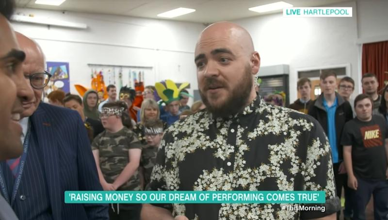 Dr. Ranj Singh interviewed teachers at the Catcote Academy in Hartlepool in today's episode of 'This Morning' (ITV)