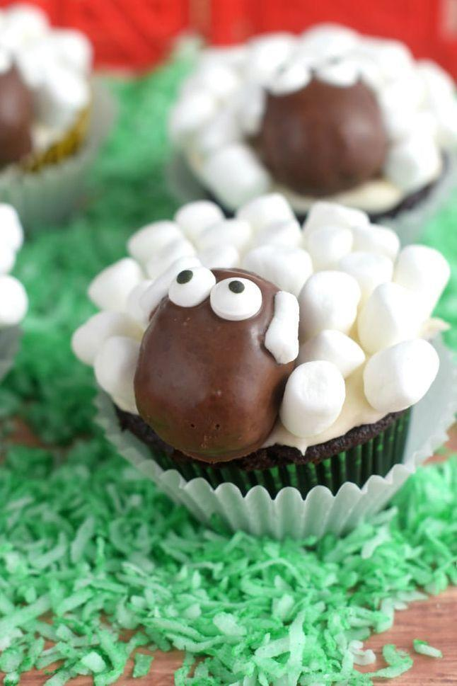 """<p>What's better than chocolate and marshmallows? A <em>cupcake</em> covered with chocolate and marshmallows! </p><p><a href=""""https://www.wineandglue.com/sheep-cupcakes/"""" rel=""""nofollow noopener"""" target=""""_blank"""" data-ylk=""""slk:Get the recipe from Wine and Glue »"""" class=""""link rapid-noclick-resp""""><em>Get the recipe from Wine and Glue »</em></a></p>"""