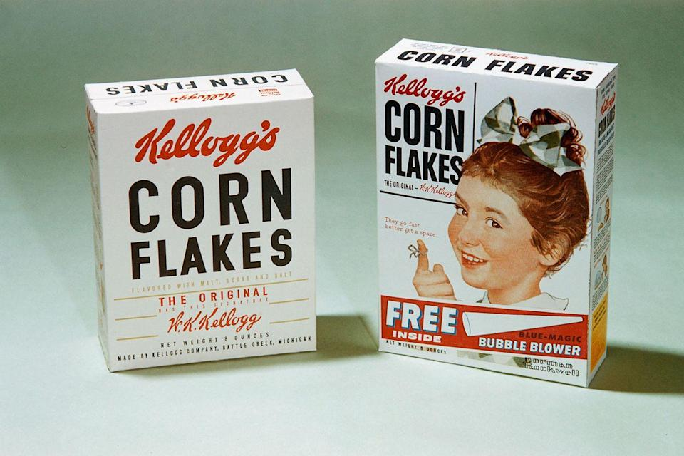 <p>You might not want to eat that box of cereal that's been hidden away for decades (for multiple reasons!), but there are collectors out there looking to buy vintage cereal boxes. Special edition boxes or cereals that are no longer in production could earn you big bucks, so now might be the time to bust out that <em>E.T.</em> cereal you've been hiding away.</p><p><strong>What it's worth: </strong>$100+ (based on on rarity of cereal or box)<br></p>