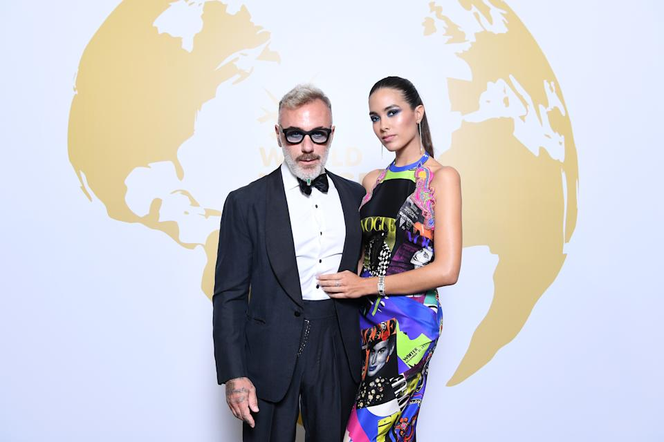 Gianluca Vacchi y Sharon Fonseca (Photo by Daniele Venturelli/Getty Images)