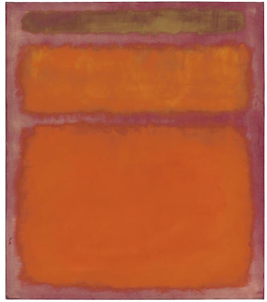 """FILE - This undated image provided by the 1998 Kate Rothko Prizel & Christopher Rothko/Artists Rights Society (ARS), New York via Christie's shows Mark Rothko's 1961 """"Orange, Red, Yellow,"""" oil painting which had been in the collection of the late philanthropist David Pincus of Philadelphia and for years on loan at the Philadelphia Museum of Art. It sold for $86.8 million on Tuesday, May 8, 2012, a record for the artist. (AP Photo/1998 Kate Rothko Prizel & Christopher Rothko/Artists Rights Society (ARS), New York via Christie's, File) NOTE: CREDIT IS MANDATORY, FOR USE ONLY WITH CHRISTIE'S AUCTION STORIES"""