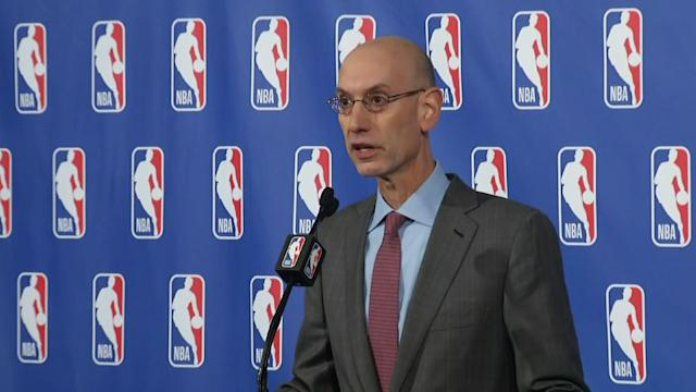 NBA commissioner Adam Silver says the current college system needs to be overhauled. (AP)