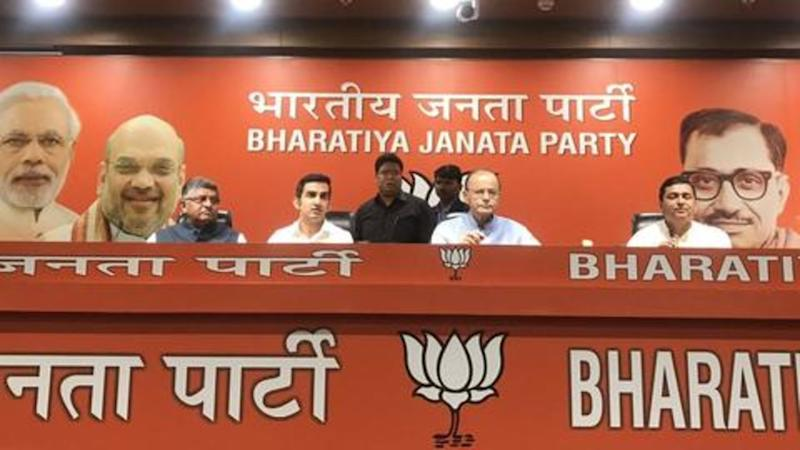 Ahead of national elections, former cricketer Gautam Gambhir joins BJP