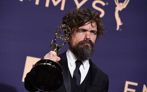 """Peter Dinklage, winner of the awards for outstanding supporting actor in a drama series and outstanding drama series for """"Game of Thrones"""" - Credit: AP"""
