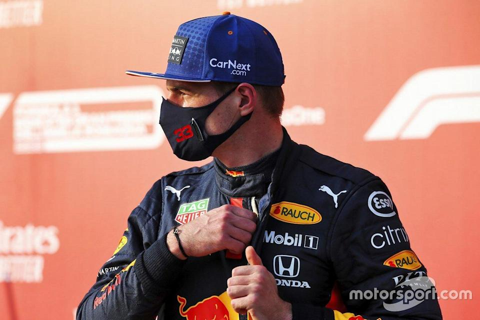 """Third place Max Verstappen, Red Bull Racing in Parc Ferme<span class=""""copyright"""">FIA Pool</span>"""