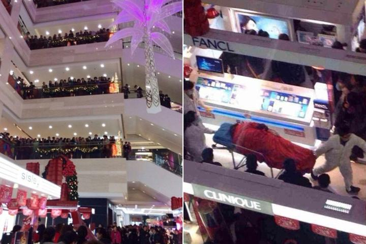 Boyfriend jumps to his death after girlfriend's five-hour shopping spree. (Photo: Guangzhou Daily)