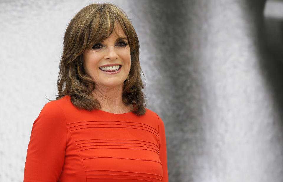 """Actress Linda Gray of TV series """"Dallas"""" poses for photographers during the 2013 Monte Carlo Television Festival, Wednesday, June 12, 2013, in Monaco. (AP Photo/Lionel Cironneau)"""