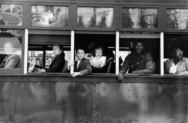 PHOTO: Trolley, New Orleans, 1955. (Robert Frank from The Americans, courtesy Pace/MacGill)