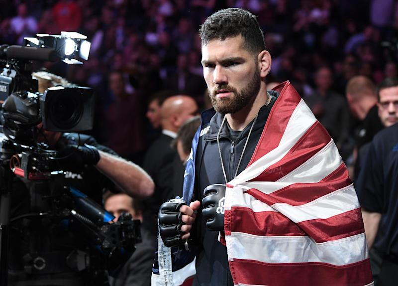 NEW YORK, NY - NOVEMBER 03: Chris Weidman prepares to fight Ronaldo Souza of Brazil in their middleweight bout during the UFC 230 event inside Madison Square Garden on November 3, 2018 in New York, New York. (Photo by Jeff Bottari/Zuffa LLC/Zuffa LLC via Getty Images)
