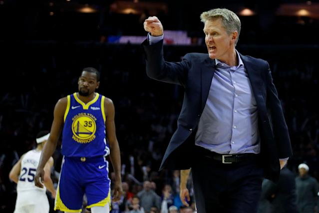 Steve Kerr has a few things on his mind these days. (AP)