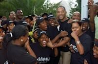 "<p>Will Smith meets young fans ahead of the charity concert ""46664 South Africa"" at the Fancourt Hotel and Country Club on March 18, 2005 in George, South Africa.</p>"