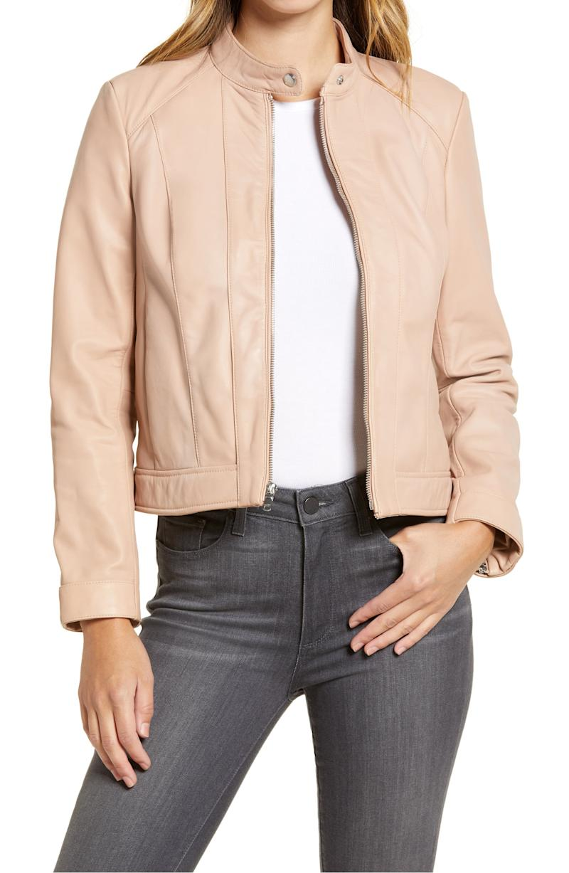 Cole Haan Signature lambskin jacket (Photo via Nordstrom)