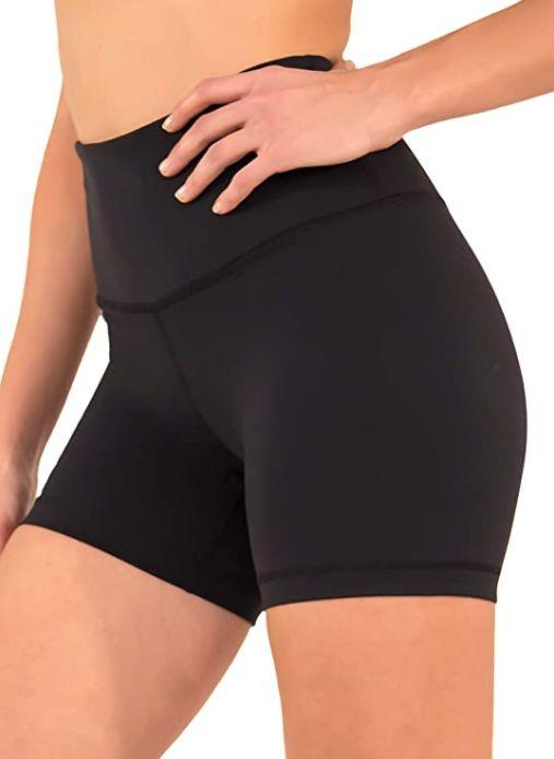 "<a href=""https://amzn.to/30JnfoJ"" rel=""nofollow noopener"" target=""_blank"" data-ylk=""slk:These bike shorts"" class=""link rapid-noclick-resp"">These bike shorts</a> are made with 87% ]nylon and 13% Spandex, feature a 4.5 inch high waistband and are <a href=""https://amzn.to/30JnfoJ"" rel=""nofollow noopener"" target=""_blank"" data-ylk=""slk:available in five colors"" class=""link rapid-noclick-resp"">available in five colors</a>.<br><strong>Sizes</strong>: XS to XL<br><strong>Rating</strong>: 4.4-star rating<br><strong>Reviews</strong>: more than 1,000 <br><br><a href=""https://amzn.to/30JnfoJ"" rel=""nofollow noopener"" target=""_blank"" data-ylk=""slk:Find them for $23 on Amazon"" class=""link rapid-noclick-resp"">Find them for $23 on Amazon</a>."