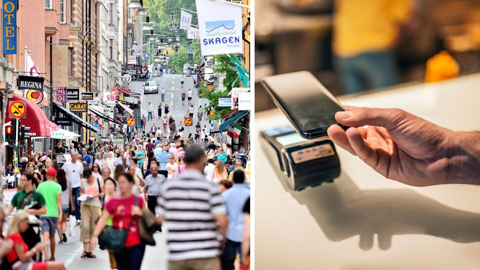 Cashless payments are de rigeur in Sweden. Images: Getty